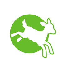 CIWF logo - lamb leaping with green circle behind
