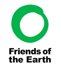 Friends of the Earth logo - a green circle above the name