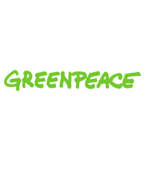 Greenpeace logo - name written in green
