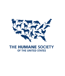 HSUS logo - the shape of the USA made up with images of animals