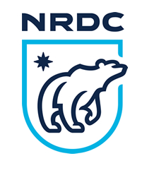 NRDC logo - A polar bear and star in a shield